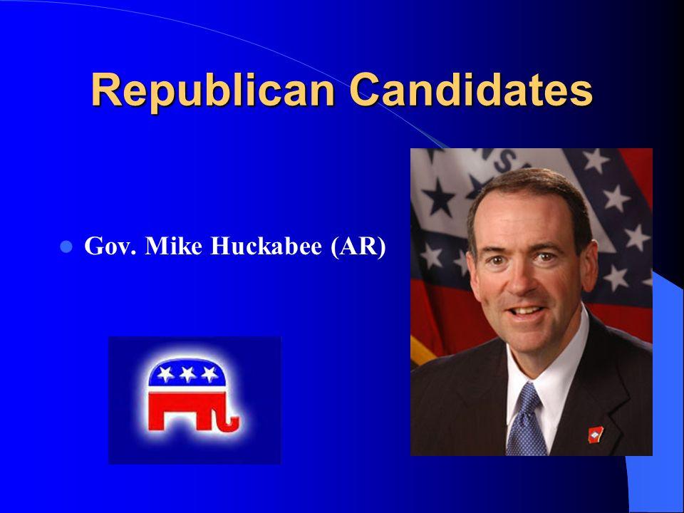 Republican Candidates Gov. Mike Huckabee (AR)