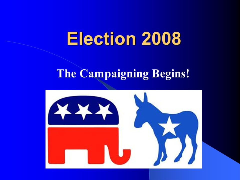 Democratic Candidates P.S.Why does the Democratic Party use a donkey as its symbol.