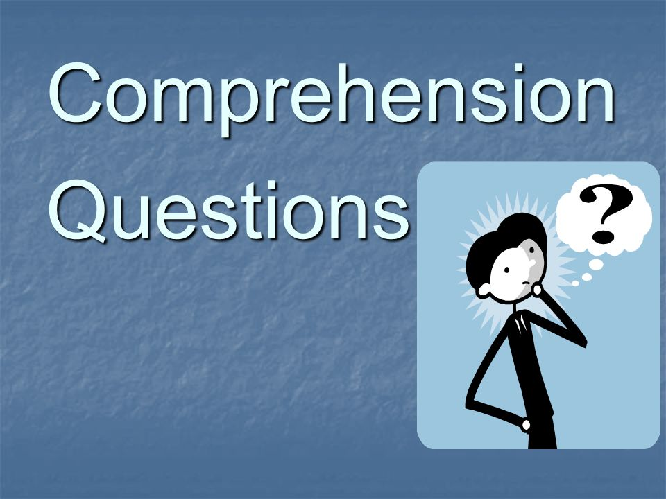ComprehensionQuestions