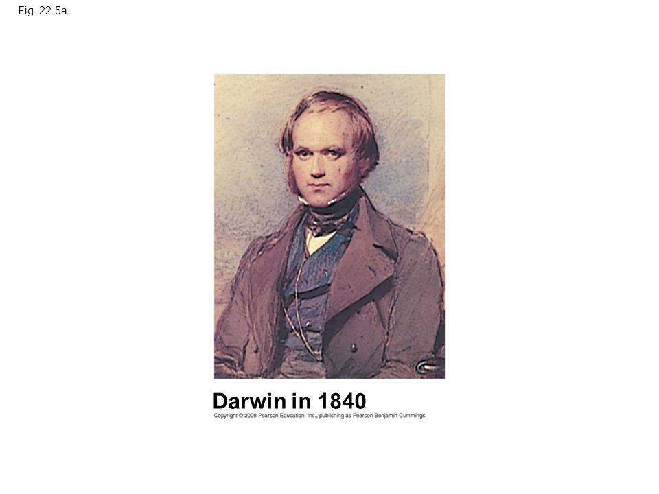 Fig. 22-5a Darwin in 1840