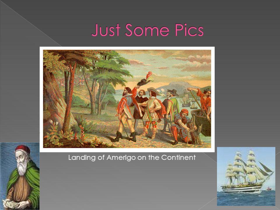 Landing of Amerigo on the Continent