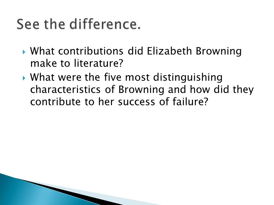 What contributions did Elizabeth Browning make to literature.