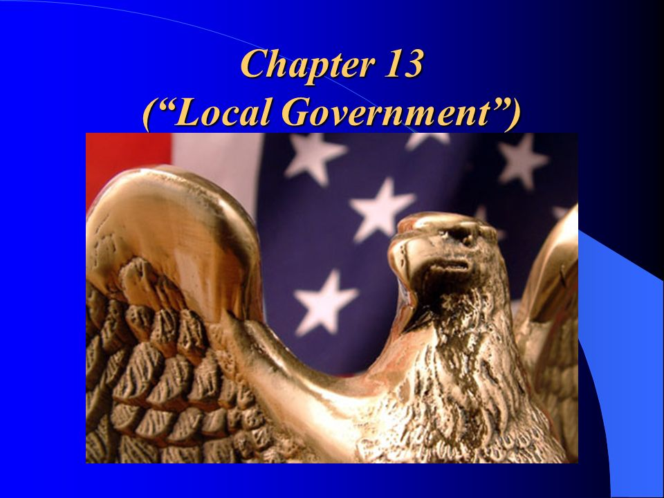 Chapter 13 (Local Government)