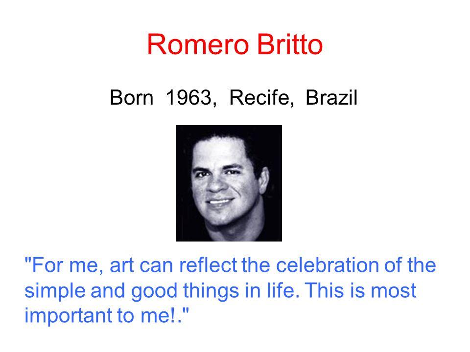 Romero Britto Born 1963, Recife, Brazil