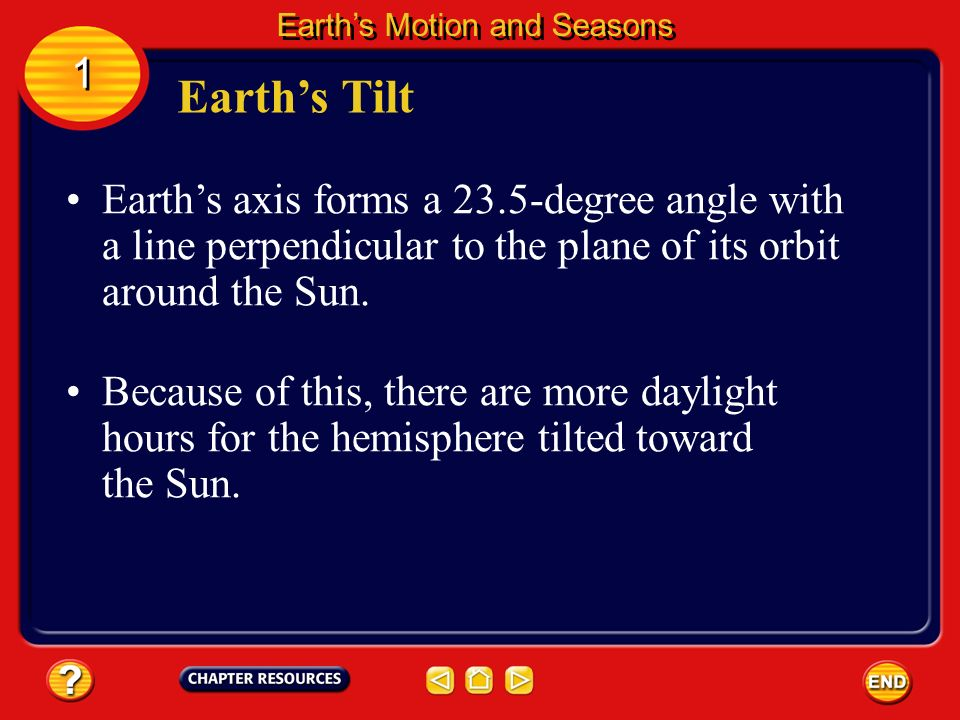Earths elliptical orbit causes it to be closer to the Sun in January and farther from the Sun in July. Seasons Earths Motion and Seasons 1 1 The amoun