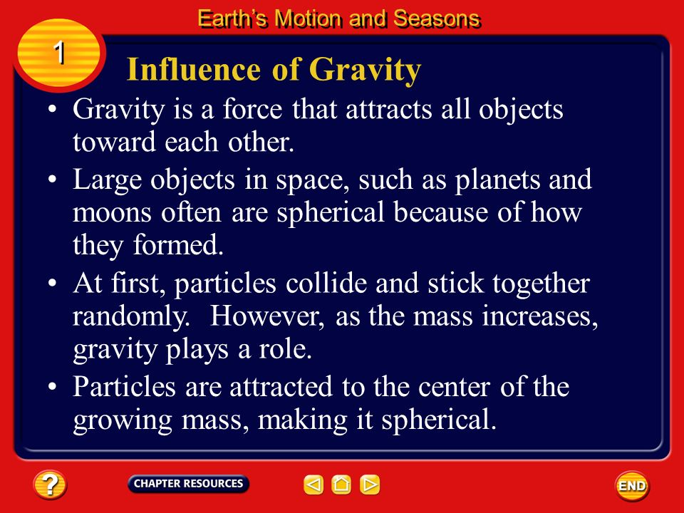 Gravity is a force that attracts all objects toward each other.