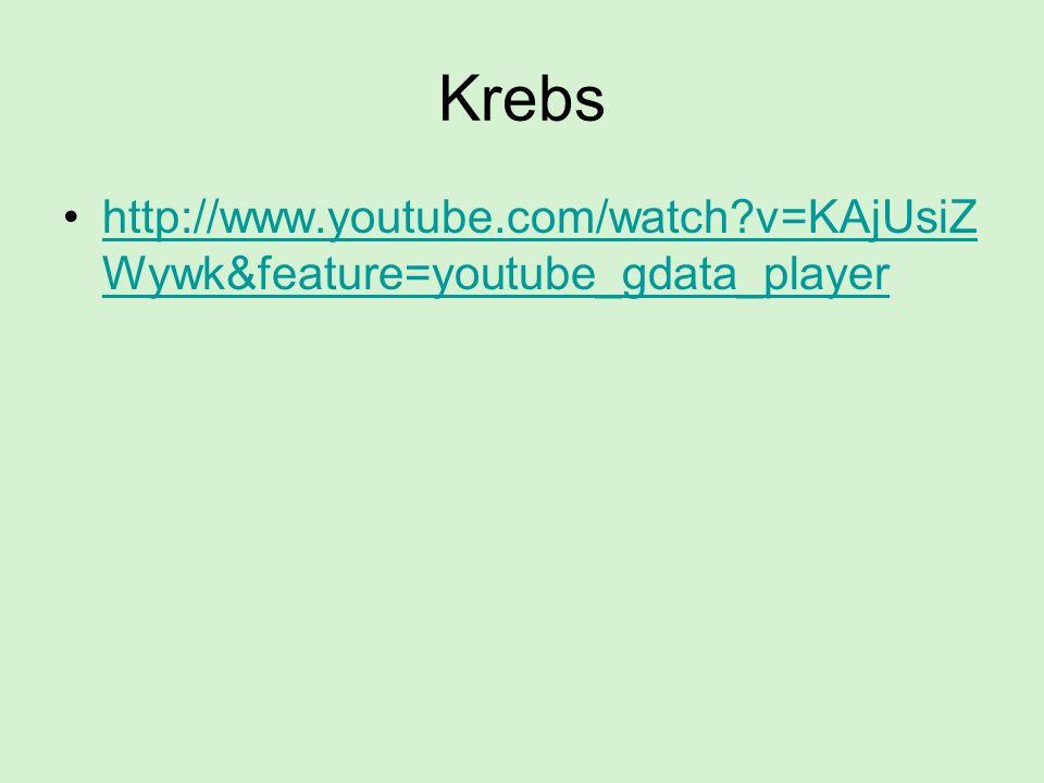 Krebs http://www.youtube.com/watch?v=KAjUsiZ Wywk&feature=youtube_gdata_playerhttp://www.youtube.com/watch?v=KAjUsiZ Wywk&feature=youtube_gdata_player
