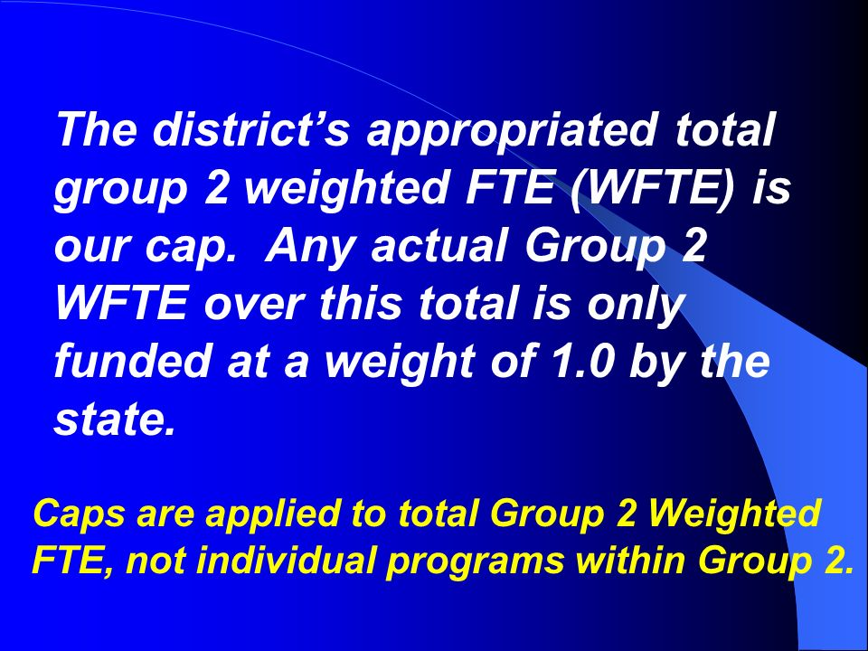 Q. Why does it matter what group a program is in.