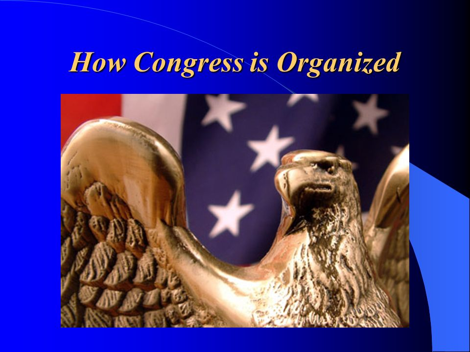 How Congress is Organized