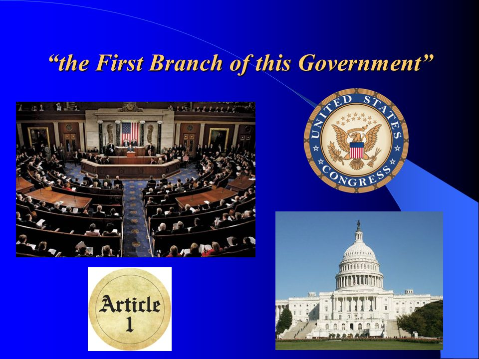 The U.S.Congress The Legislative Branch of the U.S.