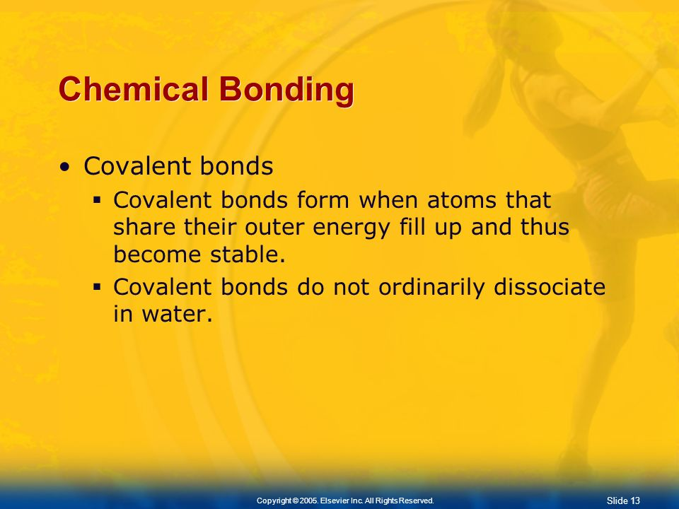 Slide 12 Copyright © 2005. Elsevier Inc. All Rights Reserved. Ionic Bonding
