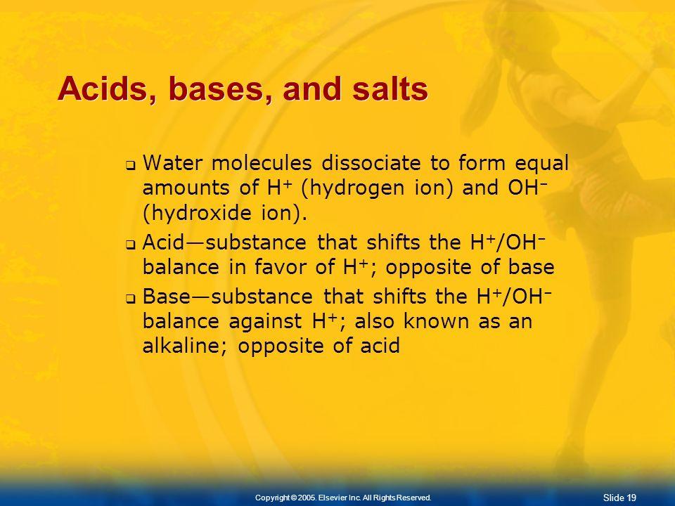 Slide 18 Copyright © 2005. Elsevier Inc. All Rights Reserved. Water-Based Chemistry