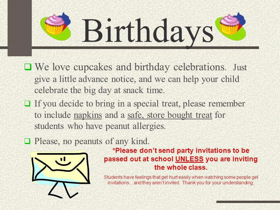 Birthdays We love cupcakes and birthday celebrations.