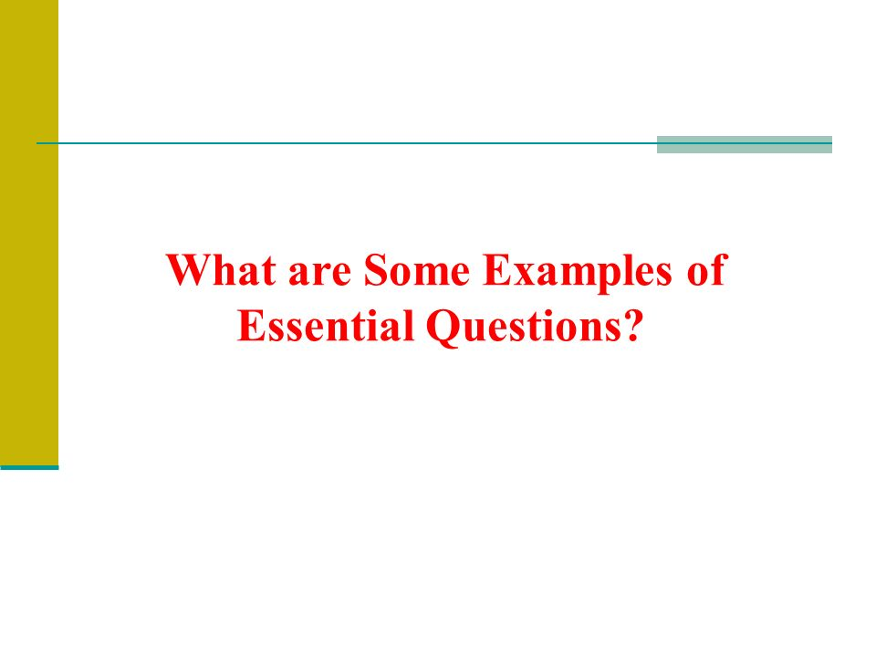 What are Some Examples of Essential Questions