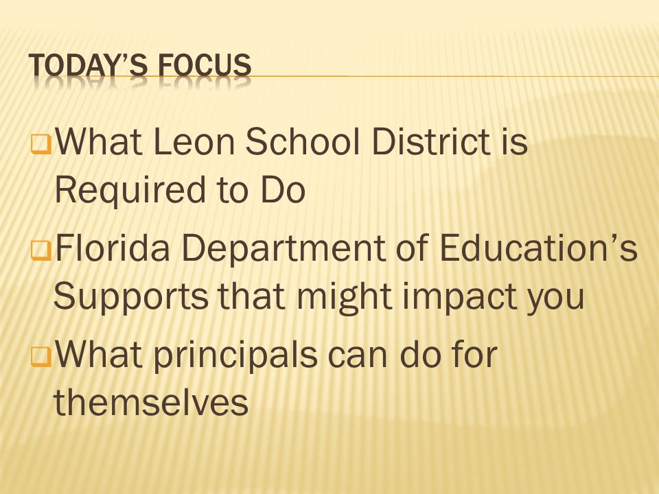 What Leon School District is Required to Do