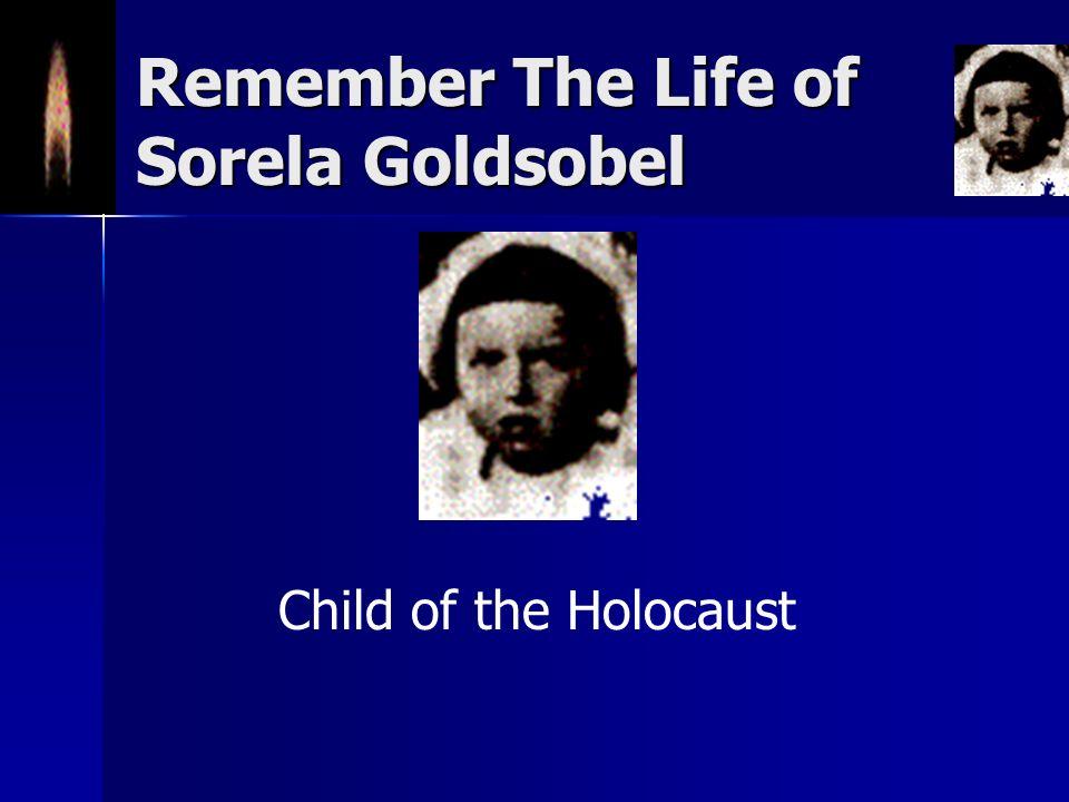 Remember The Life of Sorela Goldsobel Child of the Holocaust
