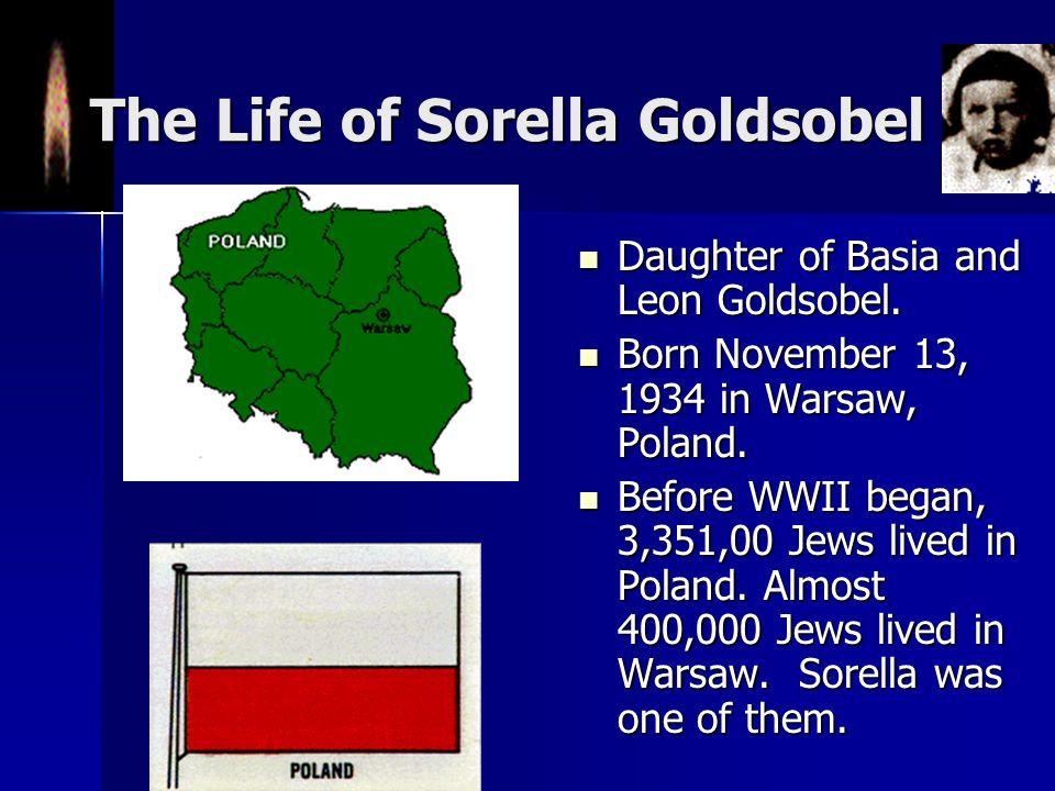 The Life of Sorella Goldsobel Daughter of Basia and Leon Goldsobel.