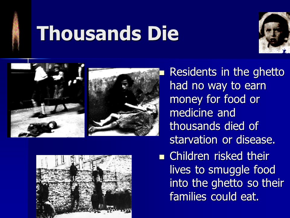 Life in the Ghetto Living conditions were crowded and unsanitary. Living conditions were crowded and unsanitary. People were issued ration cards which