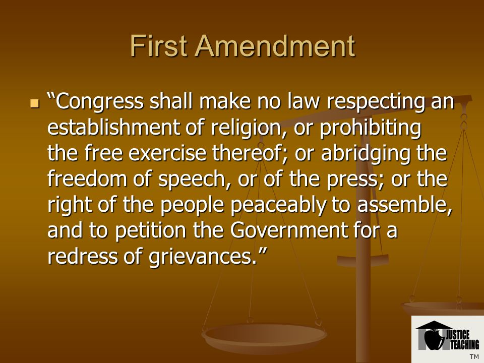 First Amendment in Schools TM