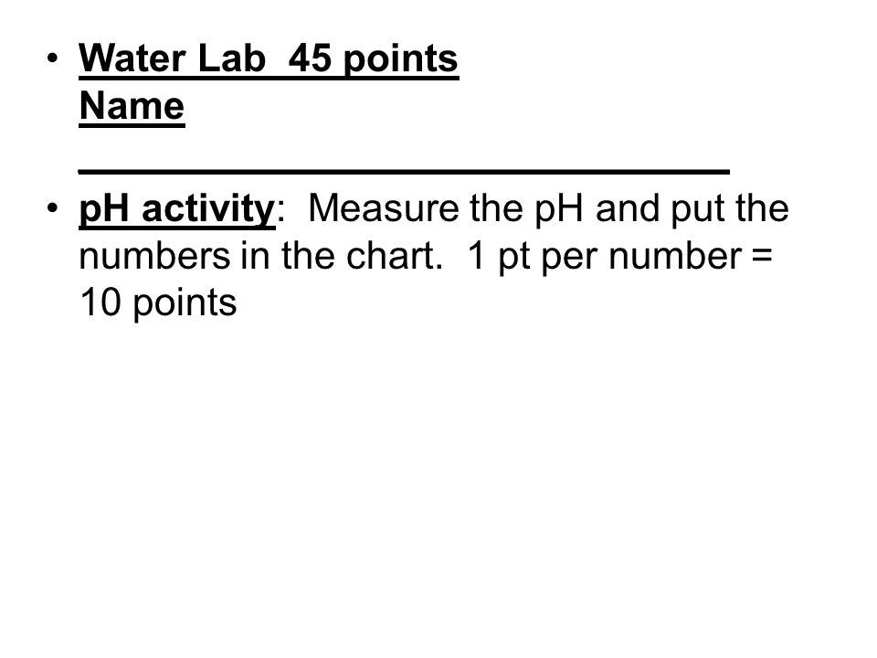 9. Draw the pH scale. Label acid, base, and neutral. Give an example of each.
