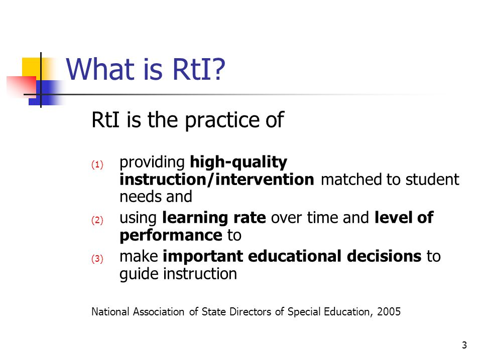 3 What is RtI.
