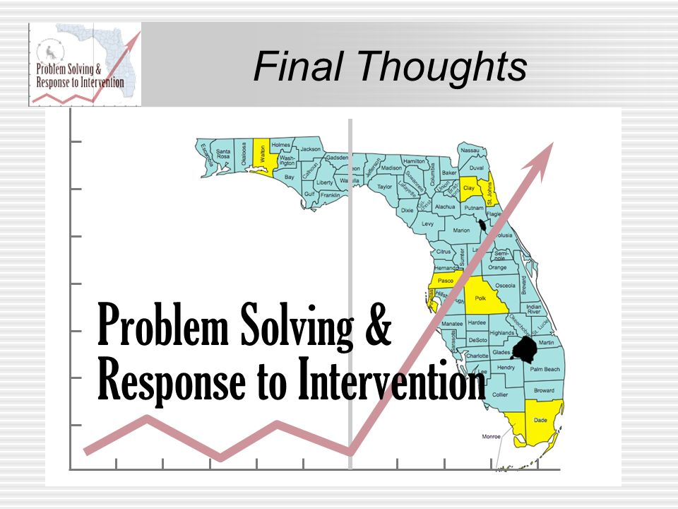 Final Thoughts Problem Solving & Response to Intervention