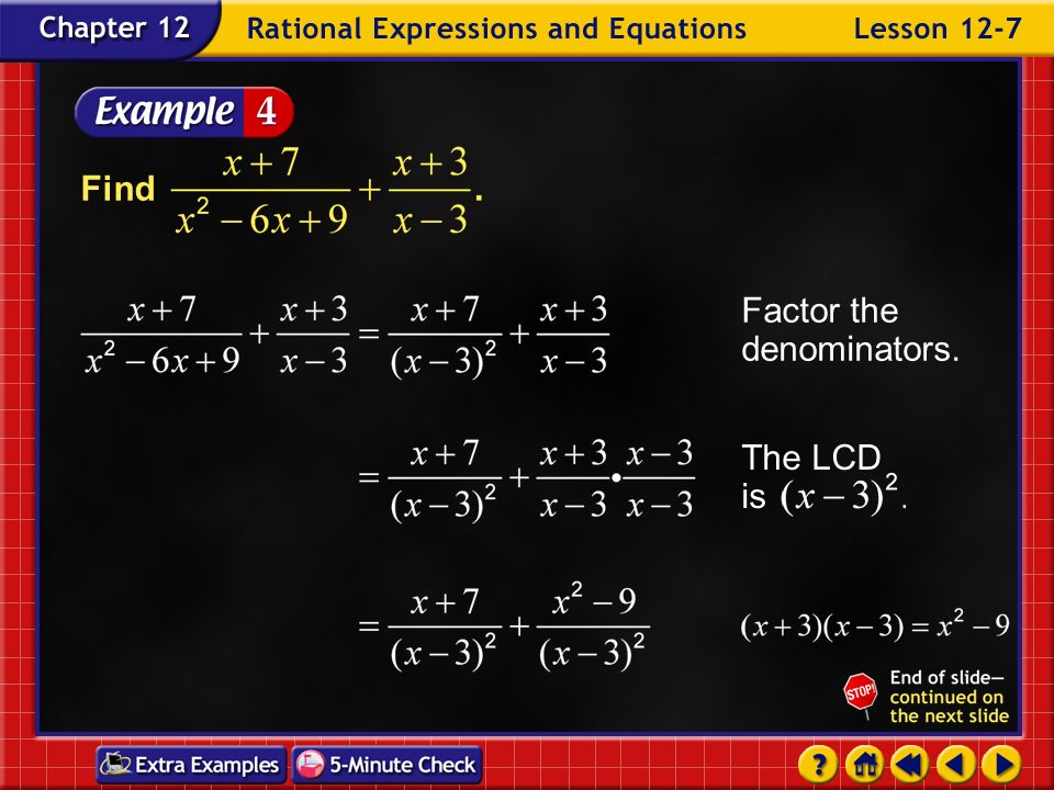 Example 7-3c Find Answer: