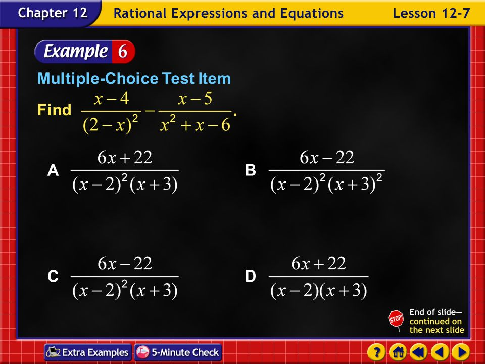 Example 7-5c Find Answer: