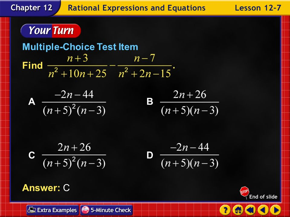 Example 7-6d Answer: C