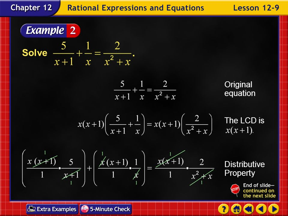 Example 9-1b Answer: –3 Solve