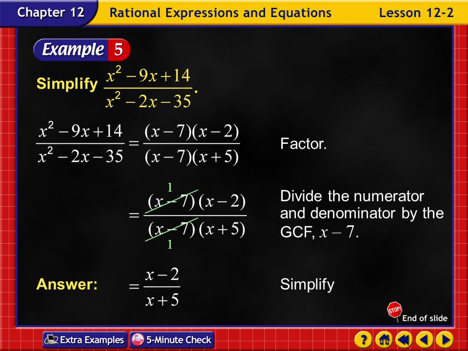 Example 2-4b Simplify Answer: