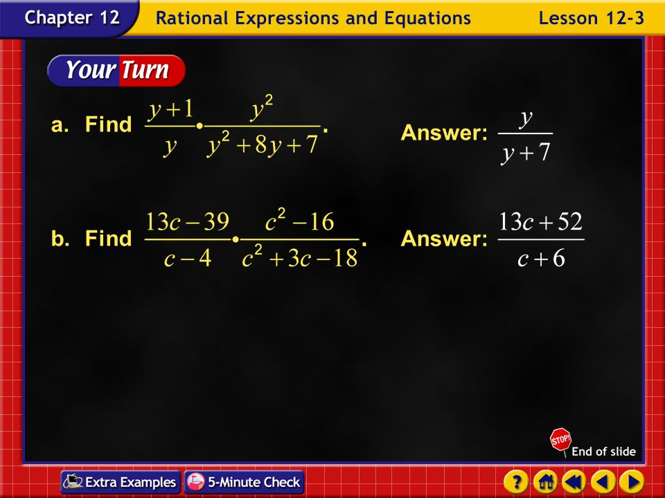 Example 3-2a Multiply. Simplify.Answer: