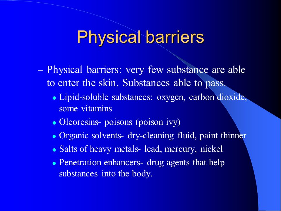What are the primary functions of the Integumentary System? Protection: provides 3 types of barriers – Chemical barriers: low pH of skin secretions sl