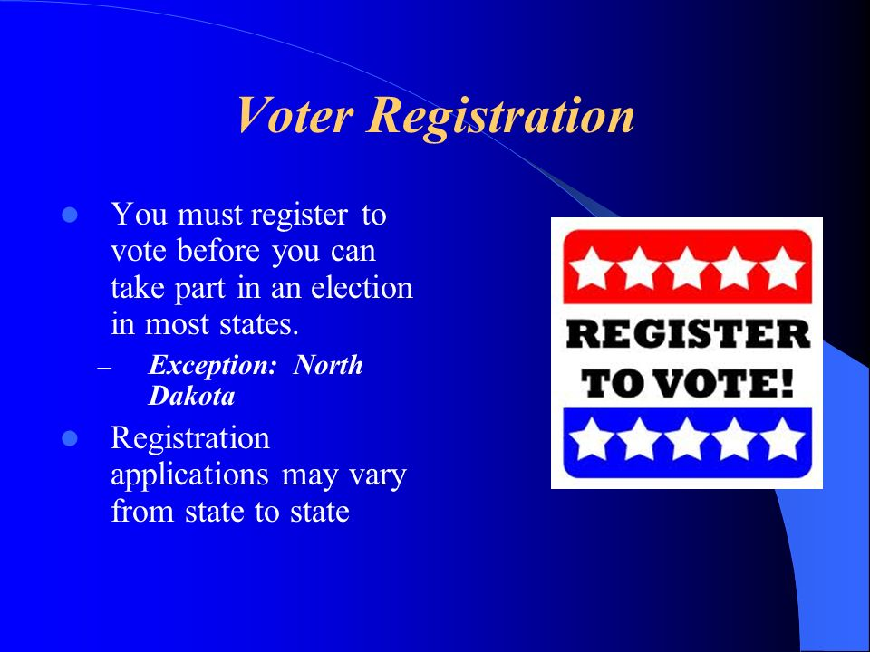 Voter Registration In order to register in the state of Florida you must: – Be a citizen of the United States – Be a legal resident of both the state of Florida and of the county in which you seek to be registered.