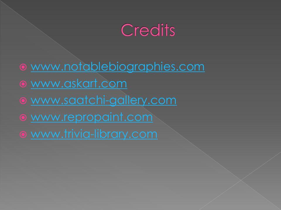 www.notablebiographies.com www.askart.com www.saatchi-gallery.com www.repropaint.com www.trivia-library.com