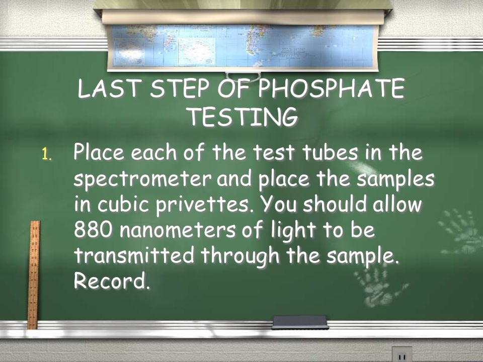 LAST STEP OF PHOSPHATE TESTING 1.