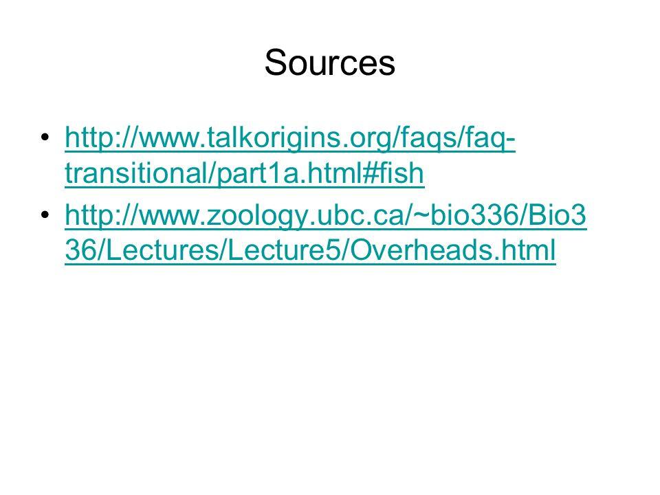 Sources http://www.talkorigins.org/faqs/faq- transitional/part1a.html#fishhttp://www.talkorigins.org/faqs/faq- transitional/part1a.html#fish http://ww