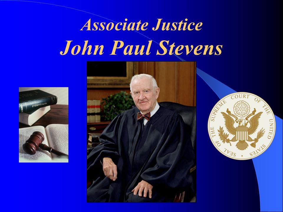 Associate Justice John Paul Stevens