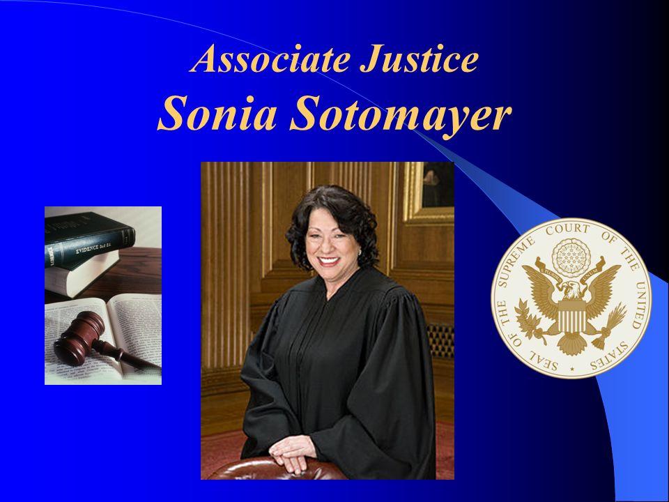 Associate Justice Sonia Sotomayer