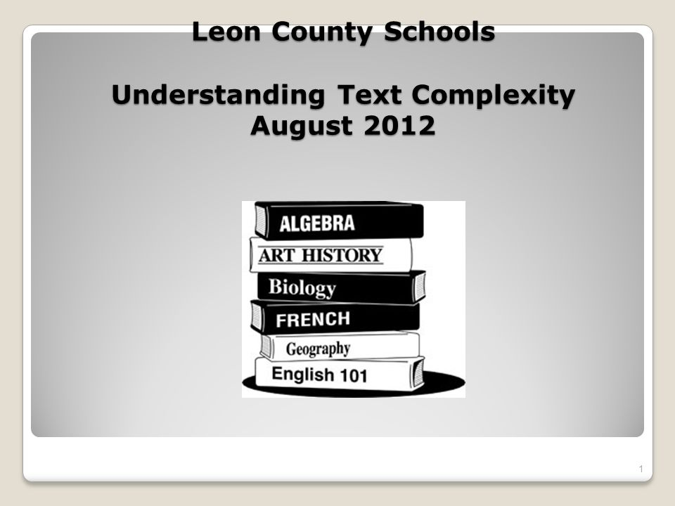 Why all the fuss about text complexity?