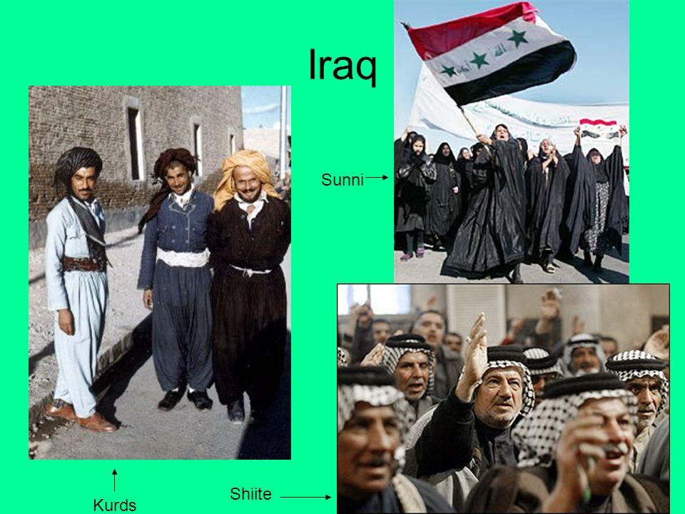 Kurds Shiite Sunni