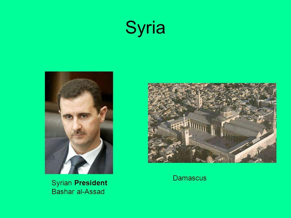 Syria Syrian President Bashar al-Assad Damascus