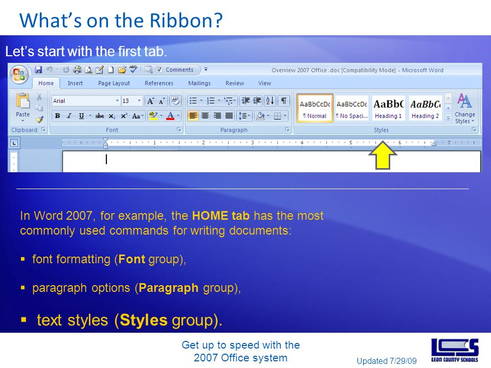 Get up to speed with the 2007 Office system Whats on the Ribbon.
