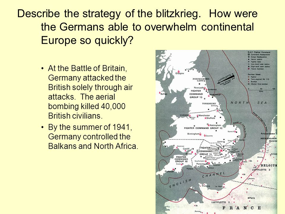 Describe the strategy of the blitzkrieg.