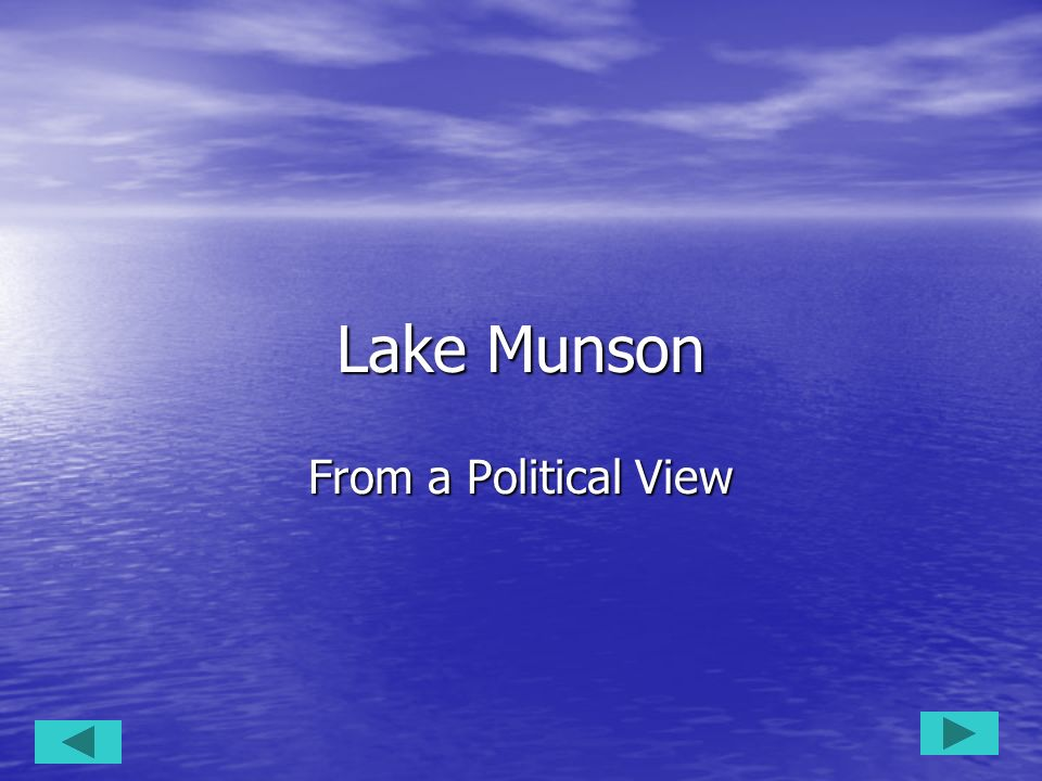 Lake Munson From a Political View