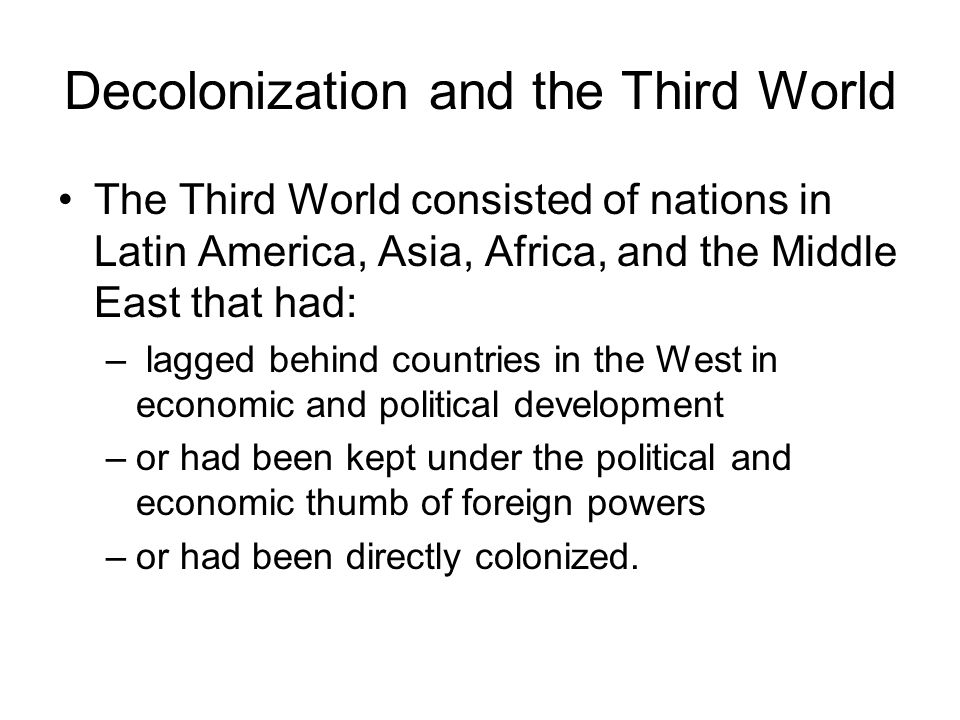 Decolonization in North Africa.Egypt and Libya declared independence in 1952.
