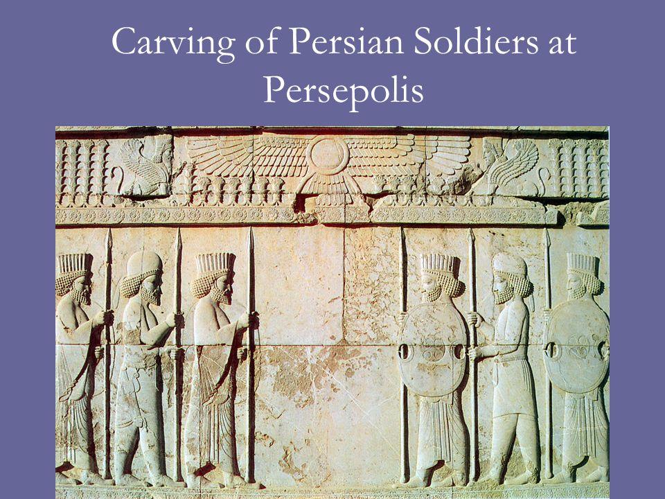 Carving of Persian Soldiers at Persepolis