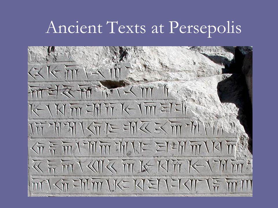 Ancient Texts at Persepolis