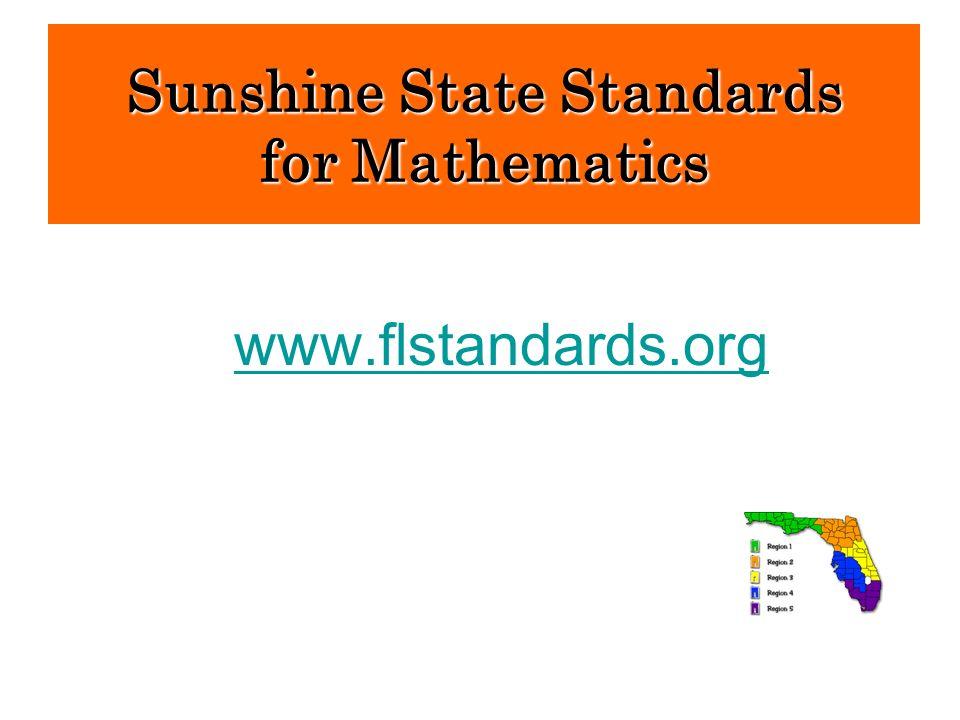 www.flstandards.org Sunshine State Standards for Mathematics