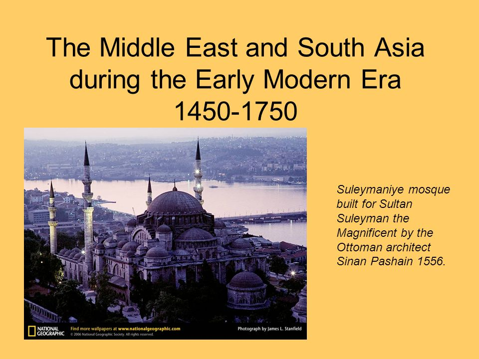 Economic Continuities The Middle East continued to play a role in regional trade, though their place in the global trade network decreased.